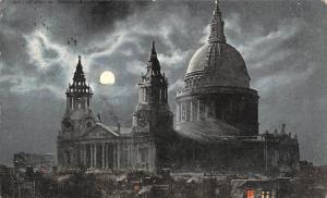 London St. Paul's Cathedral at Night, Valentine's Moonlight 1903