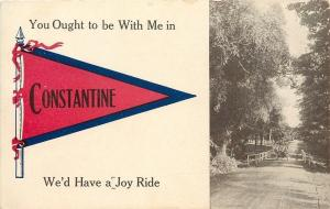 A Joy Ride Car in Constantine Michigan~Ought To Be With Me~1914 Pennant PC