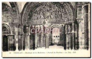 Postcard Old Vezelay Basilica Madeleine Portal Narthex