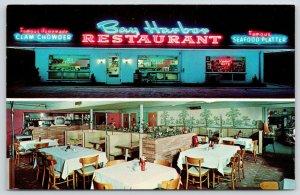 Murrells Inlet SC~Neon Signs~Bay Harbor Restaurant~Heinz Ketchup~Busboy Cart~50s