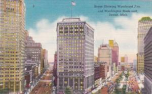 Michigan Detroit Woodward Avenue and Washington Boulevard