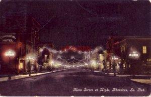 MAIN STREET AT NIGHT. ABERDEEN, SD 1911