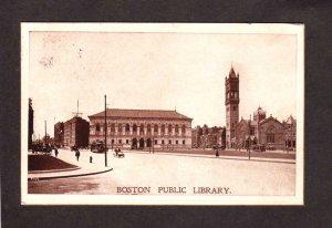 MA Boston Public Library Massachusetts Mass Vintage Postcard