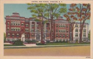New York Syracuse Central High School 1947