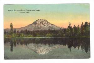 Mount Tacoma from Spanaway Lake, Tacoma, Washington, PU-00-10s