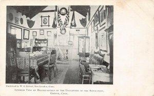 LP19 Groton Connecticut Postcard Daughters of Revolution Headquarters interior