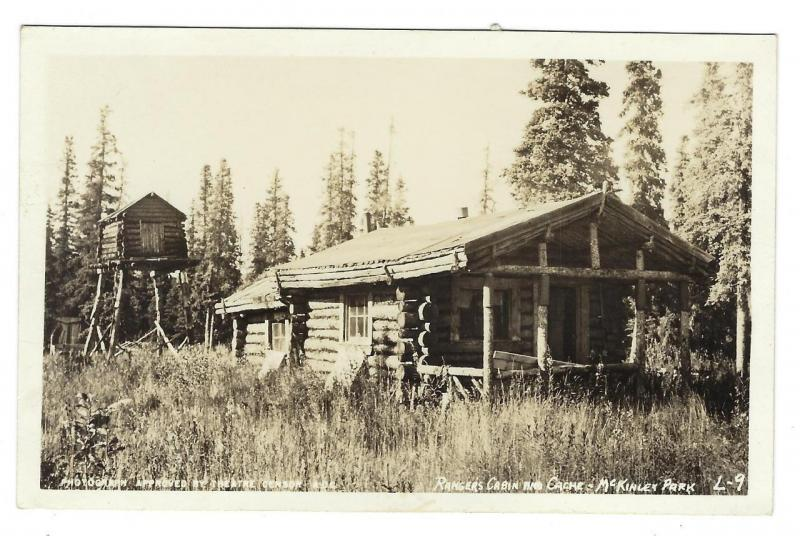 Early Vintage USA Photo Postcard - Rangers Cabin, McKinley Park (NN23)