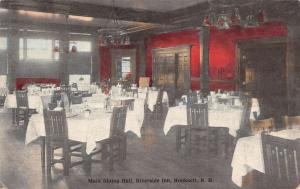 Hooksett New Hampshire Riverside Inn Main Dining Hall Antique Postcard K97050