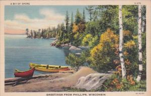 Wisconsin Greetings From Phillips 1937 Curteich