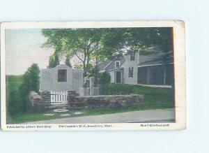 Divided-back MONUMENT SCENE Amesbury Massachusetts MA AE7701
