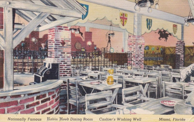 Florida Miami Robin Hood Inn Dining Room & Cashier's Wishing Well sk1566