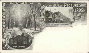 Melrose MA Multi-View c1905 Postcard #5