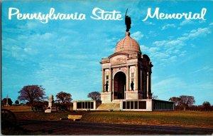 Postcard Civil War Pennsylvania State Memorial Gettysburg Pennsylvania