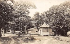 C91/ Waterville Minnesota Mn RPPC Postcard c40s McPeeks's Cottage Lake Tetonka