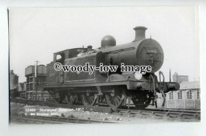 ry1314 - British Railways Engine - no 32466 at Norwood Junction - postcard