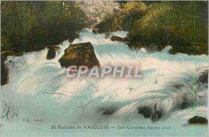 Old Postcard Fontaine de Vaucluse Cascades High Water