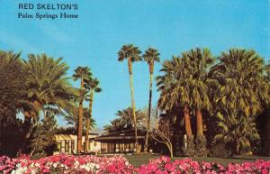 red skelton's palm springs home california L4722 antique postcard