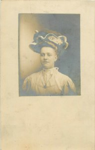 Postcard RPPC Young Woman In Hat