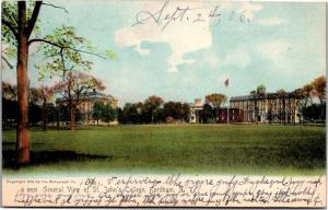 General View of St. John's College, Fordham NY c1906 UDB Vintage Postcard L05