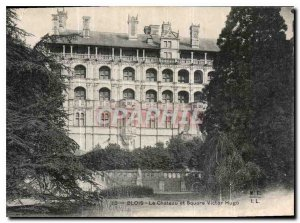 Old Postcard Blois Chateau and Square Victor Hugo