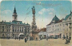 Postcard Serbia Novi Sad statue column
