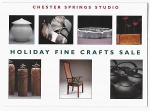 Chester Springs Studio PA Fine Crafts Sale Invitation Advert