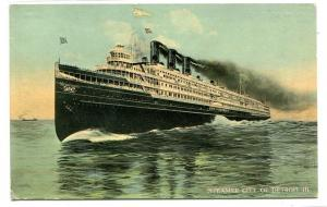 Steamer City of Detroit III Great Lakes 1910c postcard