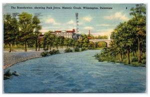 1941 Park Drive and Brandywine Creek, Wilmington, DE Postcard