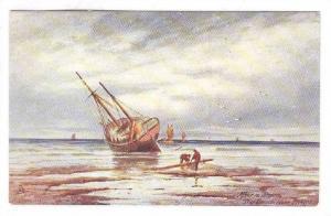 AS: J. Eaman, After A Storm, The Beach Near Brighton, Sailing Vessels, 1900-1...