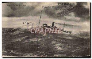 Postcard Old Ship Boat French Maritime Transport Formosa