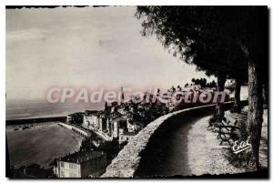 Old Postcard Menton Old Town and the Boulevard of Garavan