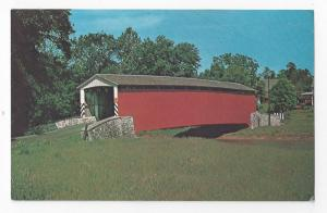 Amish Covered Bridge Pa Dutch Kissing Bridge Postcard