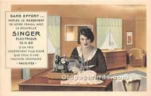 Advertising Postcard - Old Vintage Antique  La Nouvelle Singer Elctrique