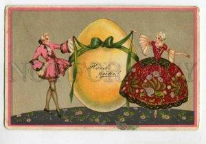 3106925 EASTER Lovers w/ Huge EGG by CORBELLA vintage ART DECO