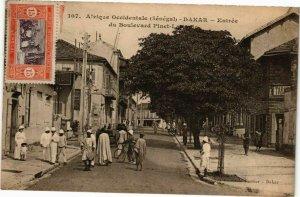 CPA AK Senegal Fortier 107. Dakar-Entrée du Boulevard Pinet (235262)