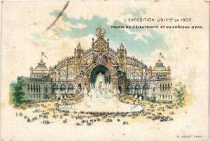 CPA PARIS EXPO 1900 - Palais de l'électricité (306559)