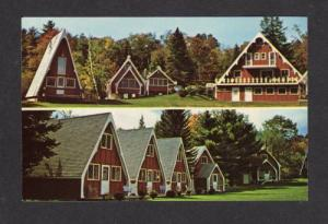 NH Red Sleigh Motor Court Cabins PLYMOUTH NEW HAMPSHIRE