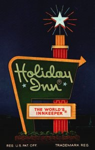 Conway, Arkansas, AR, Holiday Inn, I-40, 1958 Chrome Vintage Postcard h4737