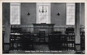 Indiana Corydon Inside View Old State Capitol Curteich