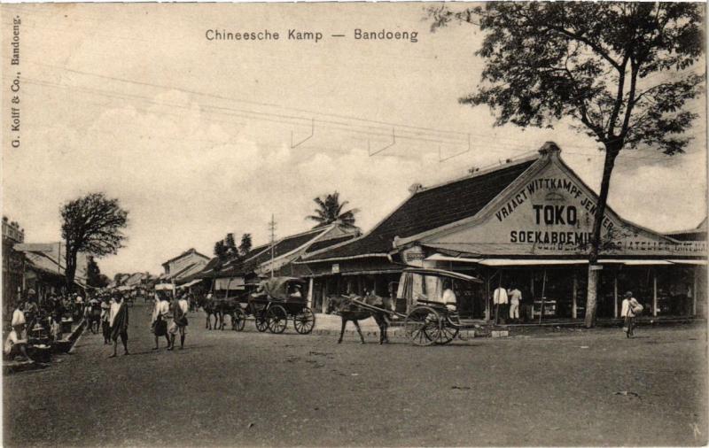 INDONESIA PC DUTCH INDIES - JAVA - Bandoeng - Chineesche Kamp (a1768)