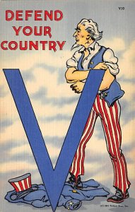 Uncle Sam Defend Your Country USA Unused