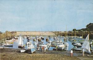 Saundersfoot Harbour, Boats, PEMBROKESHIRE, Wales, UK, 1940-1960s