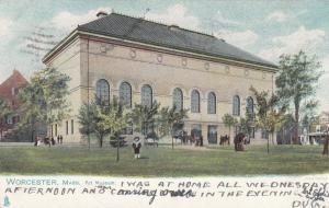 TUCK # 1057, WORCESTER , Massachusetts , PU-1906 ; Art Museum