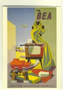 ad2699a  -  BEA, British European Airways 1956  -  modern poster advert postcard