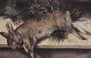 TUCK # 6658; STILL LIFE, Rabbit, 1900-10s