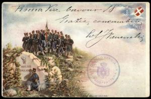 Italy WWI Patriotic 91st Infantry Postcard 73081