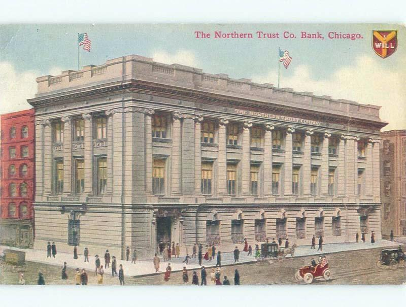 Divided-Back NORTHERN TRUST COMPANY BANK Chicago Illinois IL
