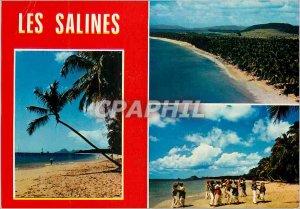 Modern Postcard Martinique Beach Salines