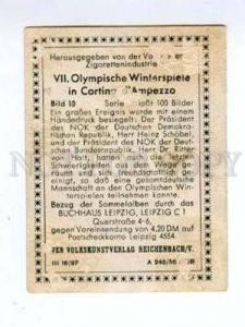 167016 Olympic HEINZ SCHOEBEL & RITTER VON HALT CIGARETTE card