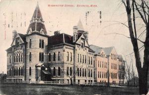 Brainerd Minnesota Washington School Exterior Vintage Postcard JD933450